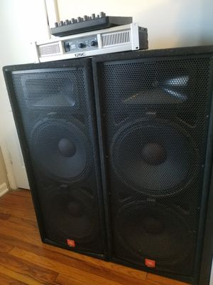 For sale ,two JBL speakers +QSC amplifier+ Yamaha Mixing Console . for Sale in Silver Spring, MD
