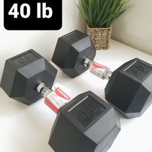 40 lb WEIDER Hexagonal Rubber Coated Dumbbell for Sale in Santa Ana, CA