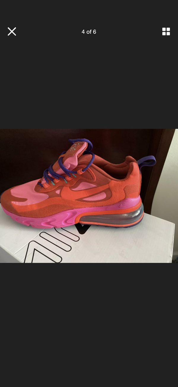 NIKE WOMENS AIR MAX 270 REACT MYSTIC RED PINK BLAST SIZE 7