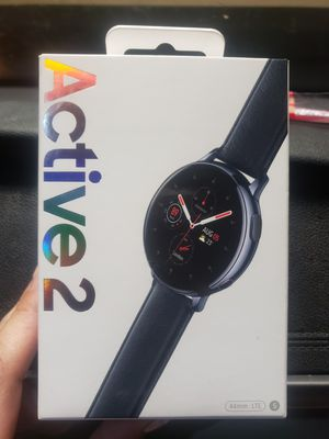 Samsung active 2 watch brand new in box. 44mm black. LTE, Bluetooth, Wi-Fi, GPS for Sale in Irvine, CA