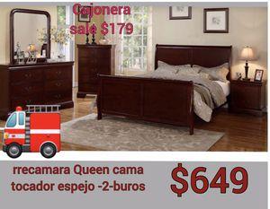 7pc new queen Bedroom set 😌 for Sale in Fresno, CA