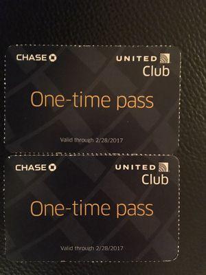 United airport lounge passes for Sale in Arlington, VA