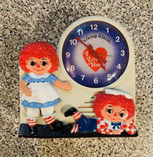 1974 Raggedy Ann & Andy Talking Alarm Clock for Sale in Colorado Springs, CO