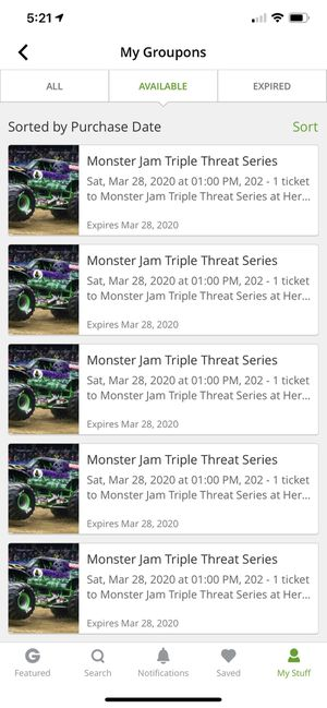 Monster jam tickets for Sale in Cincinnati, OH