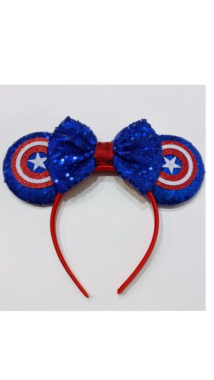 New Minnie Mouse ears headbands blue/red for Sale in Fontana, CA