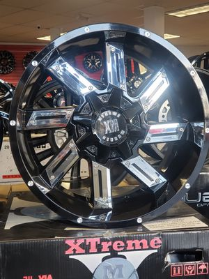 "20"" Wheels Rims 20x10 5x150 5x139.7 +0 Black Chrome Inserts Toyota Tundra Sequoia Dodge Ram 1500 Eazy FINANCING Available no credit check . for Sale in Bellflower, CA"