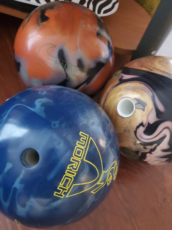 16 lbs and 15 lbs Bowling Balls