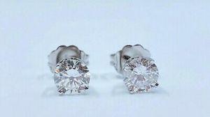 14K White Gold Diamond Stud Earrings for Sale in Buena Park, CA