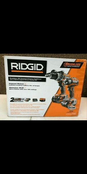Ridgid GEN5X 18V Hammer Drill/Driver And Impact Driver Combo Kit (R9205 for Sale in Garden Grove, CA