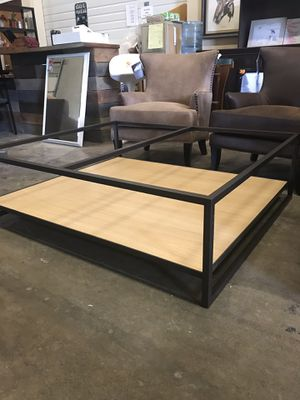 BRAND NEW!! High End coffee table missing top glass for Sale in Woodinville, WA