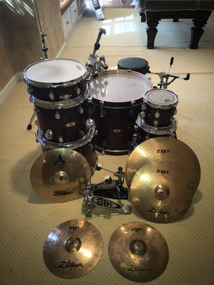 PDP X7 All Maple Drum Set With Cymbals for Sale in Gainesville, VA