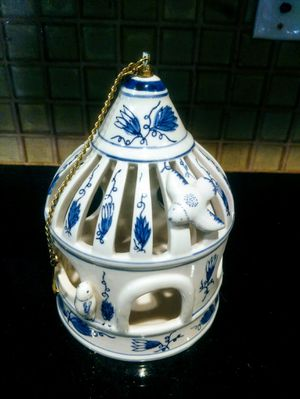 Vintage Hand Painted Ceramic Candle Lantern for Sale in Des Moines, IA