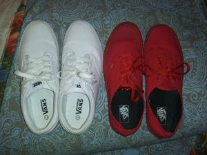 2 pairs of vans men's red a kind white size 13 for Sale in Ferry Pass, FL