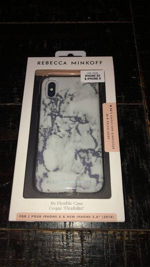 Rebecca Mincoff Be Flexible Case for iPhone XS & X - Marble White🖤 for Sale in Los Alamitos, CA