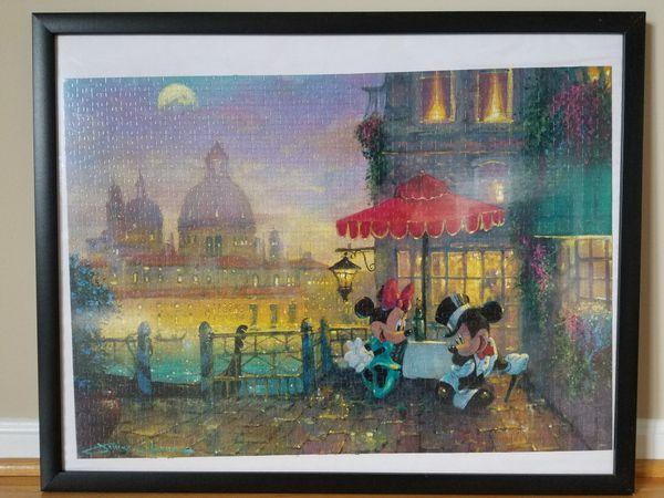 Framed jigsaw puzzle