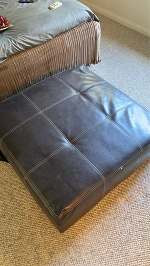 Ottoman 40 inches x 40 inches with tear at bottom for Sale in Palm Desert, CA