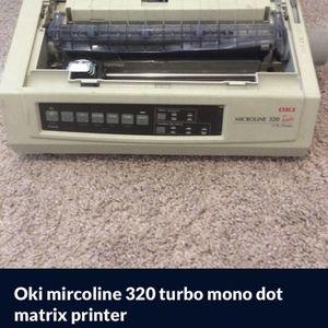 Oki mircoline 320 turbo mono dot matrix printer for Sale in Katy, TX