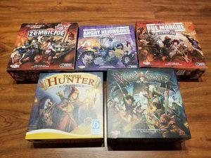 Board games - Zombicide, Rum and Bones, Treasure Hunter for Sale in Houston, TX