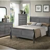 Brand New Grey King Sleigh Bed!!!! for Sale in Linthicum Heights, MD