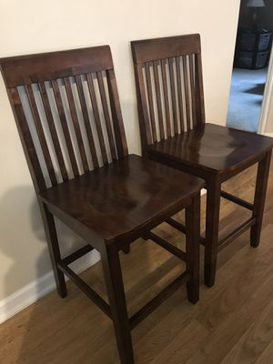 Two wooden chair good quality like new, seat height 24 inch for Sale in Lexington, KY