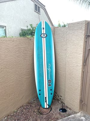 CALIFORNIA BOARD COMPANY SURFBOARD 7FT with GO PRO mount for Sale in Chandler, AZ