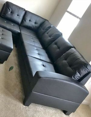 Special for Black Friday ‼ SALES Pablo Black Sectional with Ottoman | U5400 275 for Sale in Columbia, MD