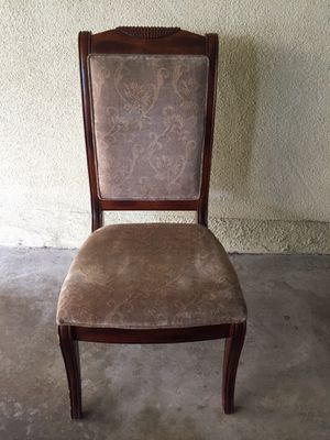 Wooden upholstered chair for Sale in Los Angeles, CA