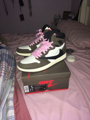 Travis Scott Jordan 1 size 8.5 worn once No trades for Sale in San Jose, CA