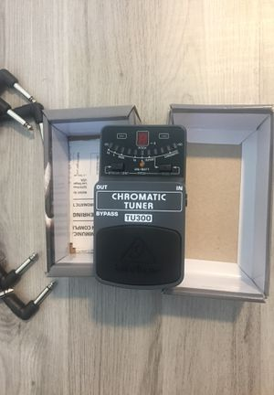 Guitar Tuner Pedal Behringer TU300 Brand New with Patch Cables for Sale in Miami, FL