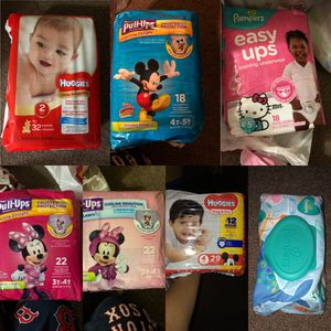 Pampers/Huggies wipes and diapers for Sale in Boston, MA