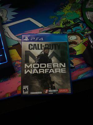 Modern warfare disc ps4 for Sale in Canton, MI