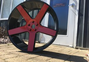 24 inch Rims Powdercoated Red for Sale for Sale in Chicago, IL