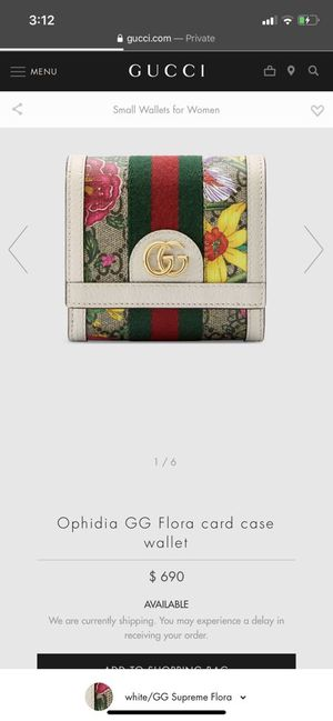 Gucci Ophidia GG card case wallet authentic with date codes for Sale in Dearborn, MI
