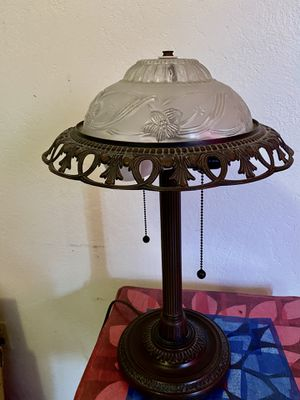Bronze and glass desk lamp for Sale in Imperial Beach, CA