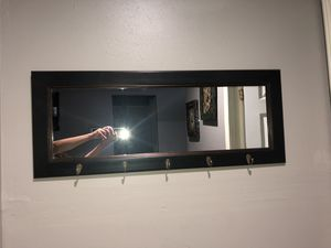 Wall mirror with hooks for Sale in Austin, TX