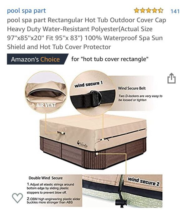 Hot tub outdoor cover