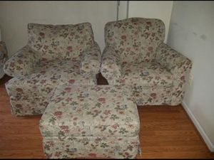 Couch & rocking chair/ ottoman for Sale in Ashburn, VA