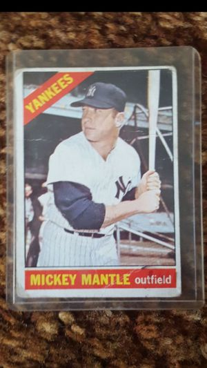 Mickey Mantle baseball card topps 1966 rare for Sale in Elsmere, DE