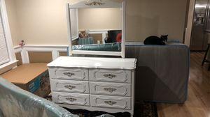 All white dresser for Sale in Manassas, VA