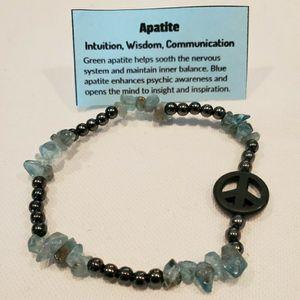Apatite Crystals Bracelet For Nervous System for Sale in Laveen Village, AZ