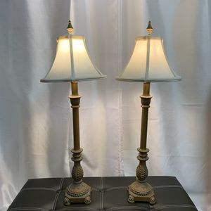 Vintage 2 Footed Candlestick Style Lamp with Finial Table Lamps for Sale in Honolulu, HI