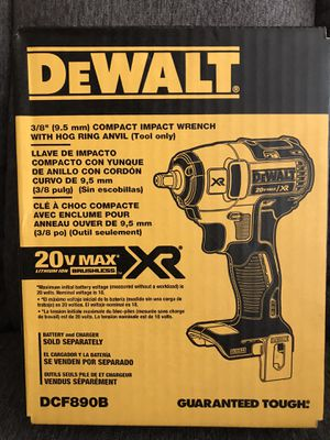 NEW DEWALT 20-Volt Max Lithium-Ion 3/8 in. Cordless Compact Impact Wrench (Tool-Only)NO BATTERY NO CHARGER for Sale in Los Angeles, CA