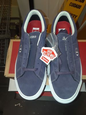 Vans pro supreme skateboard shoe 9.5 men for Sale in Binghamton, NY