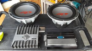 12 Inch ALPINE & KENWOOD BOOM BOOMS/ FOSGATE Amp for Sale in Lincoln Acres, CA