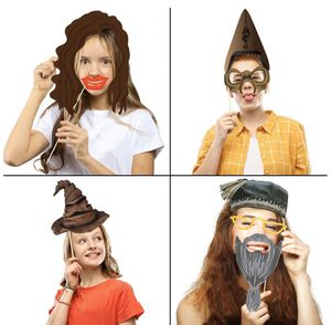 37pcs Magical Wizard Party Photo Booth Props,Wizard Castle Party Photo Booth Props, Magical Wizard School Party Favors Supplies For Kids Children Bir for Sale in Paramount, CA