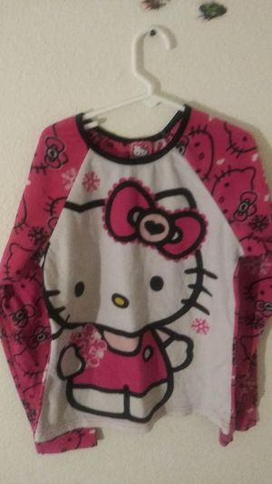 Girls hello kitty pajama top size large for Sale in Grove City, OH