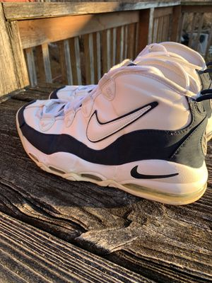 Nike Air Max uptempo white navy obsidian Sz 12 2011 heat for Sale in Hillside, IL