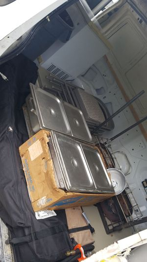 Hot steam table hotel pan.with burner.two different set..$75 and $100. for Sale in West Palm Beach, FL