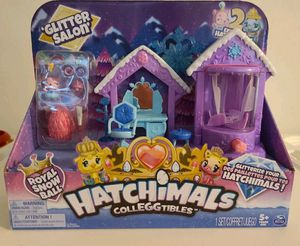 (Brand New) Hatchimals CollEGGtibles, Glitter Salon Playset with 2 Exclusive Hatchimals, for Kids Aged 5 and Up for Sale in Anaheim, CA