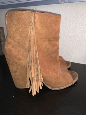 Brown fringe boots for Sale in San Diego, CA